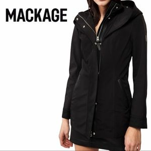 Mackage   Cotton 3/4 Trench Coat With Leather